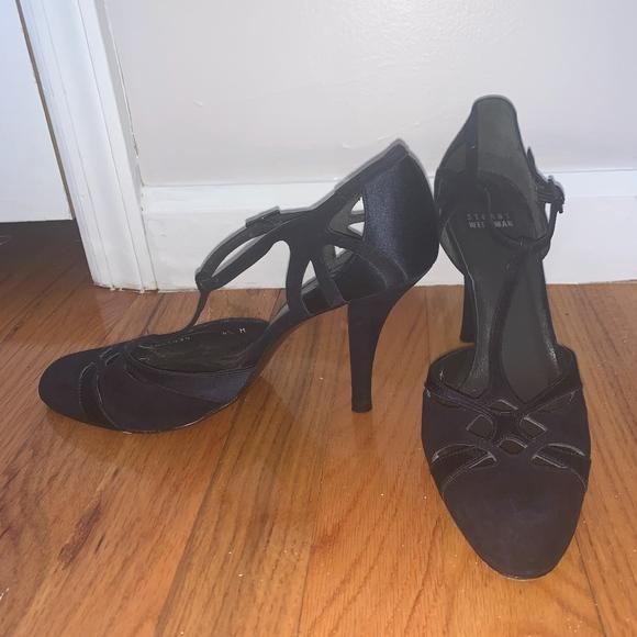 Stuart Weitzman Shoes - Suede and Satin Stuart Weitzman t-step Pumps